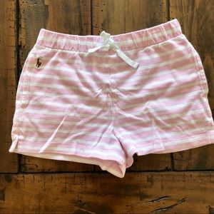 Polo pink striped knit shorts- 7